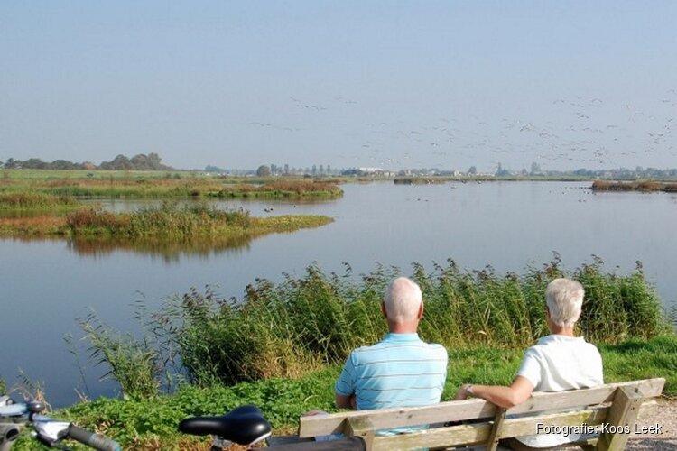 Vogels spotten bij de Waterberging Twisk