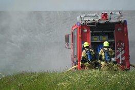 Grote brand in opslagloods Oostwoud