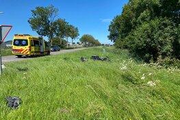 Motorrijder gewond na ongeval in Andijk