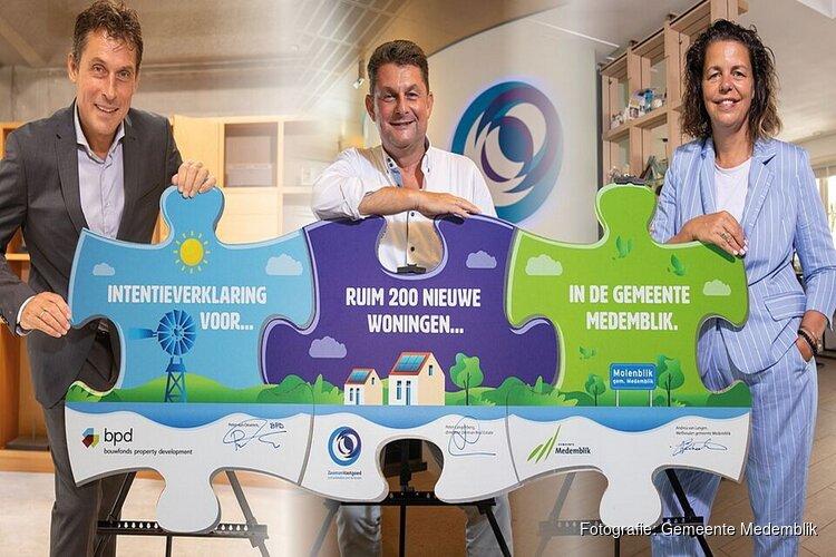 Intentieverklaring voor nieuwe wijk 'Molenblik' getekend
