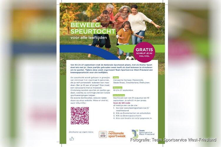 Beweegspeurtochten van Team Sportservice West-Friesland