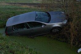 Automobilist wijkt uit voor gans en eindigt in sloot in Wervershoof